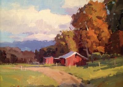 "John Poon - ""Back Road"", 8x10, Acrylic, SOLD"