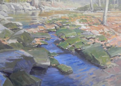 "John Poon - ""Beneath A Rising Mist"", 60x48, acrylic"
