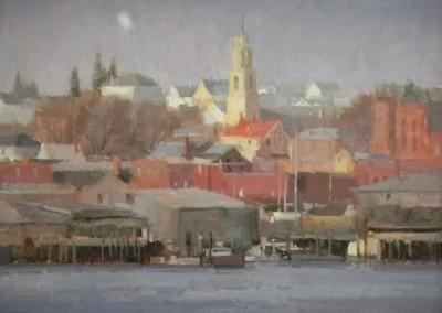 "John Poon - ""Gloucester"", 16x20, acrylic"
