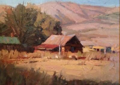 """John Poon - """"Homestead"""", 12x16, Acrylic, SOLD"""