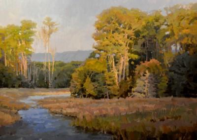 "John Poon - ""Leaves In Light"", 36x48, acrylic"