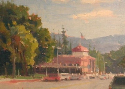 "John Poon - ""Main Street"", 8x10, Acrylic, SOLD"