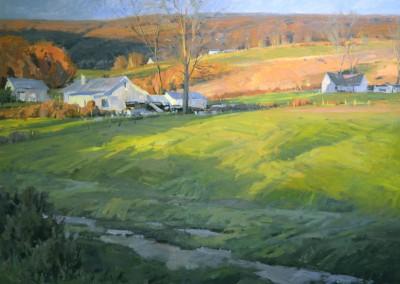"John Poon - ""West Virginia  Fields"", 48x60, acrylic"