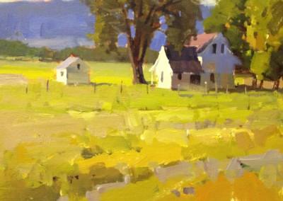 "John Poon - ""Wild Mustard"", 8x10, Acrylic, SOLD"