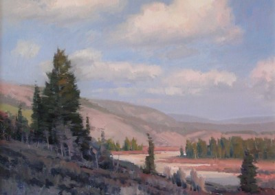 "John Poon - ""Wyoming Autum"", 36x30, Acrylic, SOLD"
