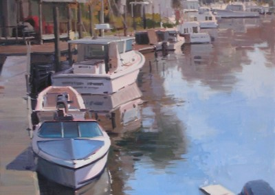 "John Poon - ""Middle Sound Mooring"", Acrylic, SOLD"