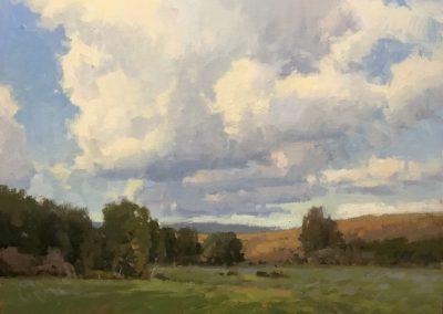 "John Poon - ""A Chance of Rain"", 16x20, acrylic"