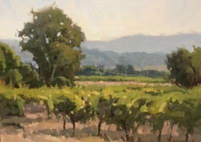 "John Poon - ""Nearing Harvest"", 11x14, acrylic"