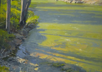"""John Poon - """"Spring Sadows"""", 48x36, Acrylic, Sold"""