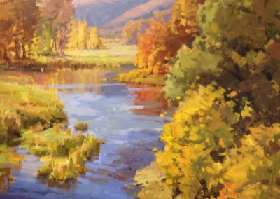 "John Poon - ""Howard Creek - Greenbrier"", 36x30, acrylic"