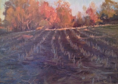 "Kenn Backhaus - ""Fall Corn Stubble"", 14x18, Oil"