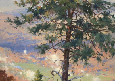 "Kenn Backhaus - ""Evening Clouds Give Way to Morning Sunshine"", 24x18, Oil"