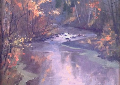 "Kenn Backhaus - ""Howards Creek"",  9x12, Oil"