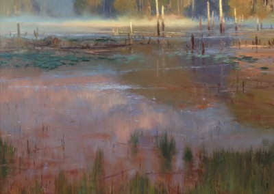 "Kenn Backhaus - ""Rising Fog"", 20x24, Oil"