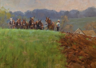 "Kenn Backhaus - ""Spring Plowing"", 18x24, Oil"
