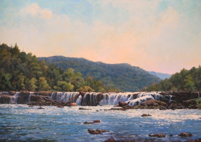 "Perry Austin - ""Sandstone Falls"", 30x48, oil, Sold"