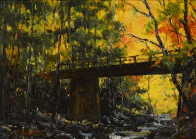 "Perry Austin - ""Middle Prong Bridge"", 9x12, Oil"