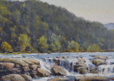 "Perry Austin - ""Sandstone Falls"", 8x16, oil"