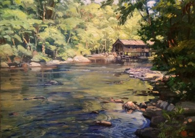 "Ken Knowles - ""Covered Bridge"", 30x36, Oil"
