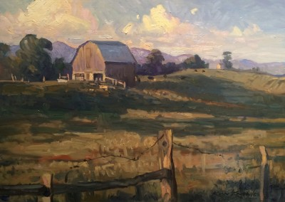 "Ken Knowles - ""Greenbrier Barnyard"", 12x16, Oil"