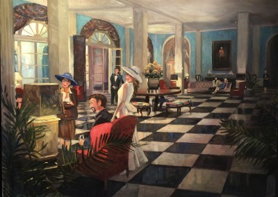 "Ken Knowles - ""Upper Lobby"", 24x30, Oil"