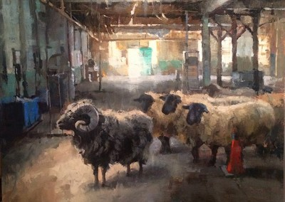 "Larry Moore - ""Black Sheep"", 30x30, Oil"