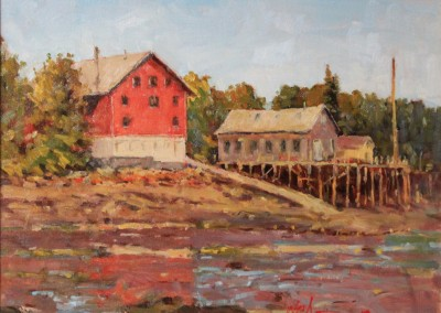 "Perry Austin - ""The Old Boat Works"", 12x16, Oil, SOLD"