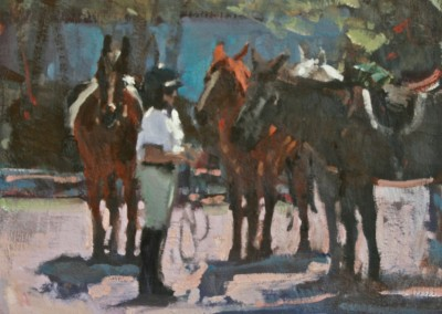 "Randall Sexton - ""Horsing Around"", 14x18, Oil, SOLD"