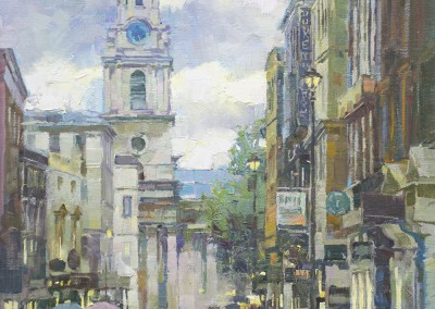 "John Michael Carter - ""Theater District London"", 16x10, Oil, SOLD"