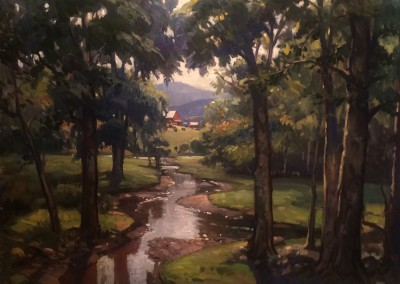 "Ken Knowles - ""Autumn Stream"", 36x40, Oil"