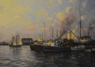 "Ken Knowles	- ""Harbor Light"", 20x24, Oil"