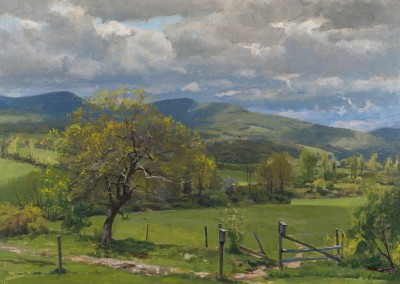 "Joe Paquet - ""Mohawk Valley Spring"", 24x30, Oil"