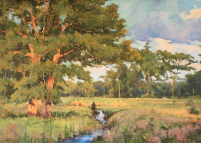 "Perry Austin	 - "" Hill Country Evening"",  24 x 36, Oil, SOLD"