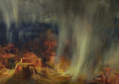 "Quang Ho - ""Grand Canyon Rain Storm"", 24x24, Oil,SOLD"