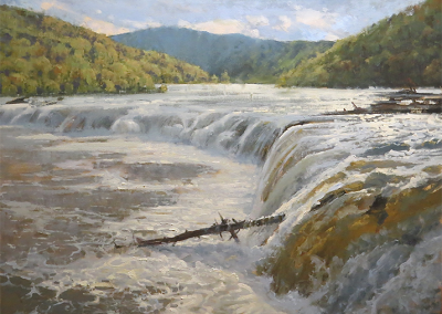 "Roger Dale Brown - ""Rivers Symphony "", 36x48, Oil, Sold"