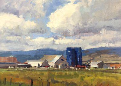 """John Poon - """"Allegheny Farm"""", 11x14, acrylic"""