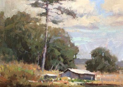 "John Poon - ""Fish Camp"", 14x11, oil"