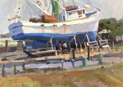 "John Poon - ""Maintenance"", 11x14, acrylic"