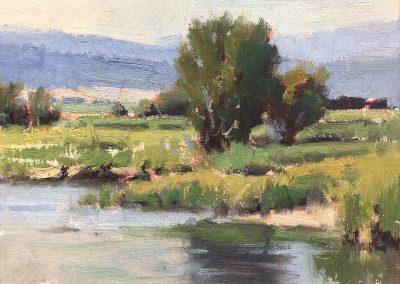 John Poon - Spring Rains, 6x8, oil