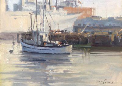 """John Poon - """"Still Mooring"""", 11x14, oil"""